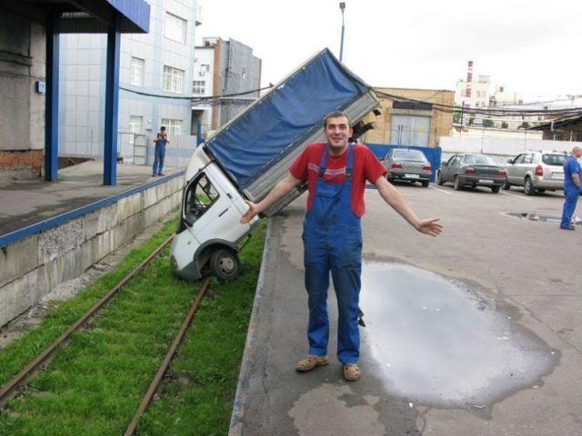 Accidente laboral tractio